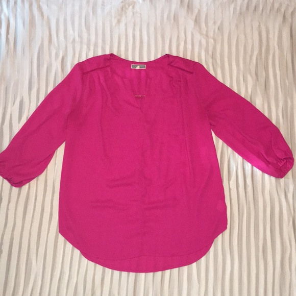 Pleione Tops - Vibrant Pink Blouse